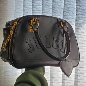 Juicy Couture Leather Pet Carrier